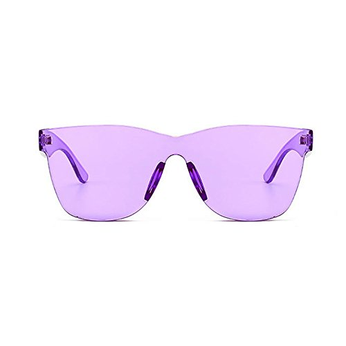 Auifor ✿Women Fashion Heart-shaped Shades Sunglasses Integrated UV Candy Colored Glasses (Brille Kids Die Spy)