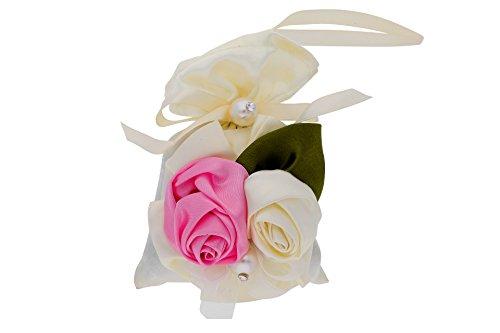 Blumen Bambuskohle Hängeschnüre Feuchtigkeit und Geruch Absorbierer – Rosen Design mit Duft Raum Schrank und Auto Erfrischer für Gesunde Luft