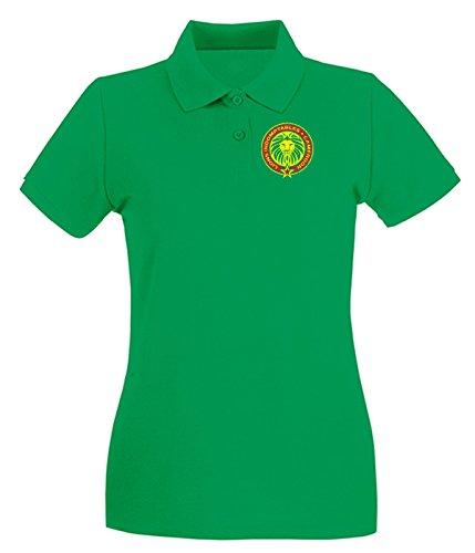 Cotton Island - Polo pour femme WC0232 CAMEROON T-SHIRT - INDOMITABLE LIONS Vert