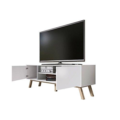 Vero Wood - Mobile Porta TV/Mobiletto Porta TV Moderno (150 cm, Bianco  Opaco/Pannelli Frontali Bianco Opaco)