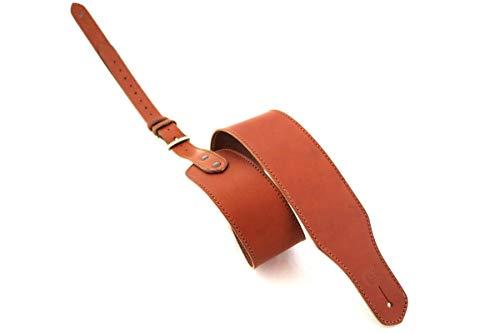 Gurt für Gitarre und Bass in Leder braun mit Schnalle Custom Style t830C123