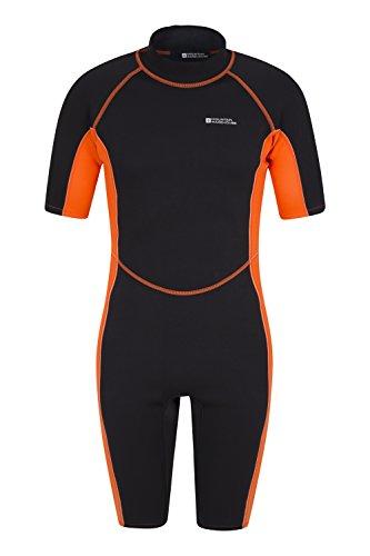 Mountain Warehouse Shorty Herren-Neoprenanzug Tauchanzug Wetsuit Schwimm Bade Surf Wasser Strand Wassersport Urlaub Tauchen Schnorcheln Orange Large / X-Large
