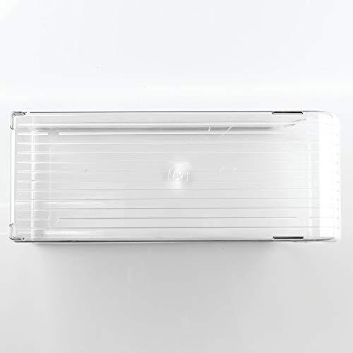 InterDesign Fridge/Freeze Binz Aufbewahrungsbehälter, Box aus Kunststoff für neun Getränkedosen, durchsichtig - Kühlschrank Binz