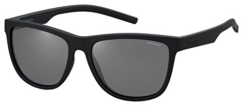 Polaroid pld 6014/s y2 yyv occhiali da sole, nero (black rubber/grey pz), 56 unisex-adulto
