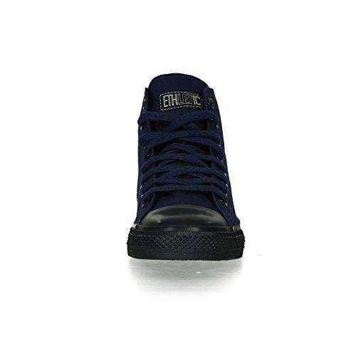 Ethletic Black Cap HiCut / High-Sneaker Collection 17 aus Bio-Baumwolle – dunkelblau / schwarz - 6