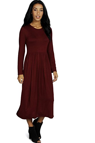 YourPrimeOutlet Damen Kleid Beere