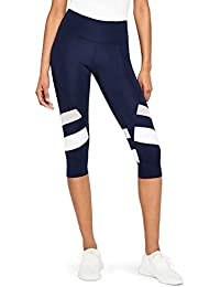 Amazon-Marke: AURIQUE Damen sport leggings damen Capri Stripe