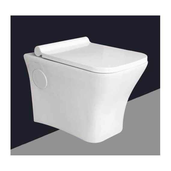 Ceramic Wall Hung/Wall Mounted Water Closet WC for Bathrooms Super White