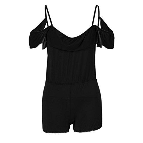Groß Akzent Brust (Damen Unterwäsche Leder Frauen Bademäntel ❤️Nachtkleid Nachthemd Wäsche Reißverschluss A Öffnen Brust Unterwäsche Charming Kleidung Babydoll S/M/L/XL/2XL/3XL (Schwarz, 3XL))