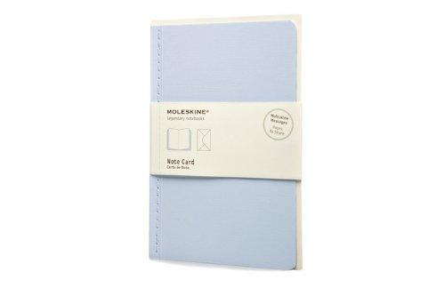Moleskine Nachrichten Notizkarte Pocket, Kartoneinband irisblau (Note Pocket Card)