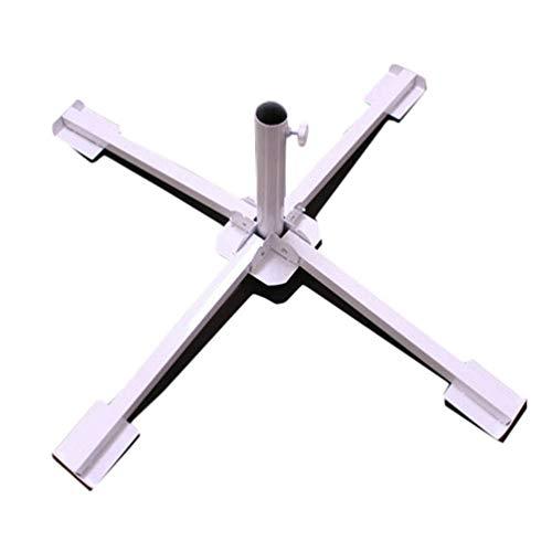 Sforza Schirmsockeleinsatz Sonnenschirmsockel Leichter Schirmständer Outdoor Base White für Yard Outdoor -