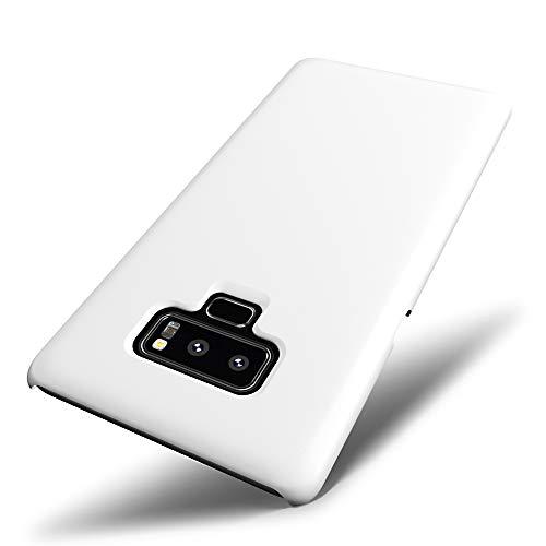 SLEO Custodia per Samsung Galaxy Note 9, Cover per Samsung Galaxy Note 9 Thin Fit, [Cover Sottile & Robusto] Rivestimento Soft-Feel, Ultra Leggero Protetto PC Duro Case - Bianco