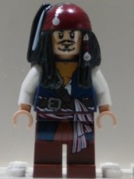 LEGO Pirati Dei Caraibi: Capitano Jack Sparrow Minifigura