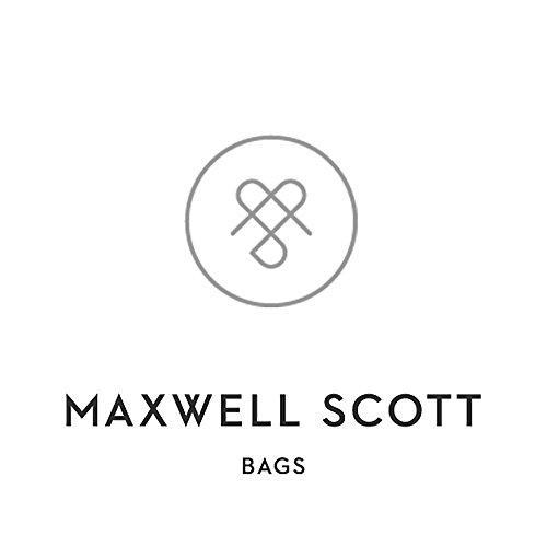 Maxwell Scott Bags® PERSONNALISABLE! Grande Sacoche à Bandoulière Cuir Italien Noir (SantinoL) Marron Foncé