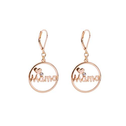 WKAIJCJ Earrings Ladies Fashion Short Paragraph Girl Simplicity Love Earrings Jewelry Creative Temperament Personality 2.0*4.5cm