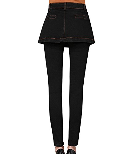 Jeans Vita Alta da Donna Jeans Denim Jeans Donna Pantaloni Jeans Larghi Nero