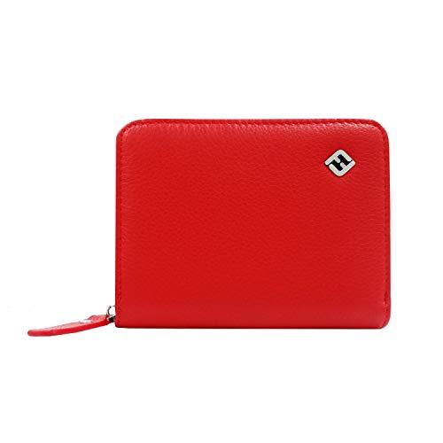21dc0b7adc212 ▷ Portemonnaie Damen Leder Rot Juni - Kaufen