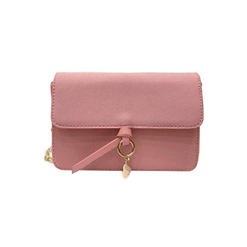 Borsa donne , feiXIANG Donna moda borsa spalla borsa tote signore borsa Messenger Borsa,cuoio del PU (Beige) Rosa