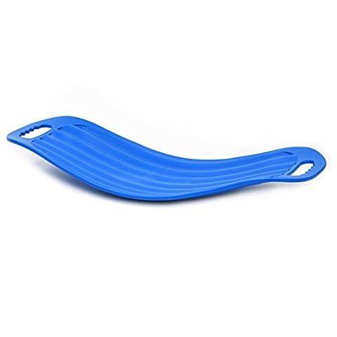 Twist de fitness et de 'nbalanceboard–Le Allround Balance Board pour un Parfait tout le corps à la maison, au bureau ou au Gym (raffermissement de tronc, le ventre, les jambes et les fesses et le renforcement de haut du corps et pauvres), bleu, 65 cm x 28 cm