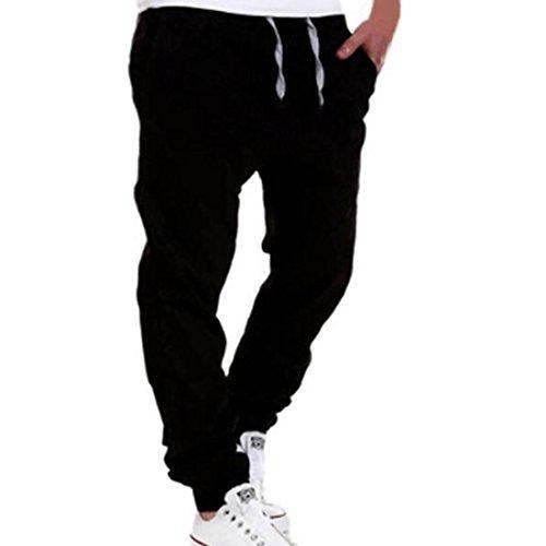 Herren Hose Xinan Freizeit Men Kleidung Casual Jogger Hose (XXL, Schwarz) (Schwarz-herren-lange Hosen)