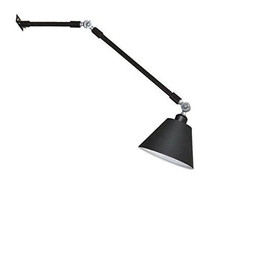 DENG Appliques Spots LED Culbuteurs réglables Plier E27 Métal Industriel Abat-Jour Intérieur Chevet Fixation Éclairage