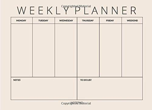 Weekly Planner Notepad: Undated Monthly Calendar, Weekly Desk Planner, Minimalist To Do List Notepad Desktop Organizer for Writing Dates Notes, Neutral Ivory Color