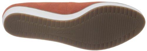 Clarks Compass Zone 2035889 Damen Ballerinas Orange (Orange Suede)