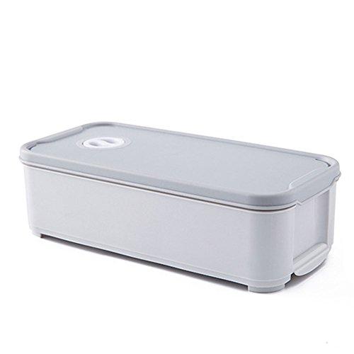 Milopon Eierleisten Eierhalter Eierablage für Kühlschrank Eier Aufbewahrungsbox Multifunktionsbox Transportbox Kühl Gefrierkombination Einbaukühlschrank (Grau)