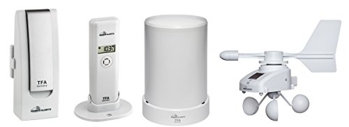 TFA Monitor de Temperatura Dostmann para Smartphone con Sensor de Temperatura, pluviómetro, anemómetro...