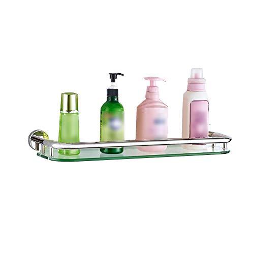 Freistehende Badezimmer-spiegel (Zhangcaifang Bathroom glass shelf XSJJ Badezimmerregal, 304 Edelstahl, freistehend, Badezimmerregal, Wandmontage, Badezimmer-WC, Spiegel, 1 Schicht 53cm/20.8inch)
