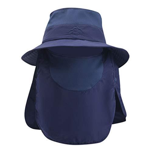 EUCoo_hat Outdoor Sport Caps Männer Frauen Bergsteigen großen Hut, atmungsaktive Sonnencreme UV-Schutz Abdeckung Gesicht Fischerhut