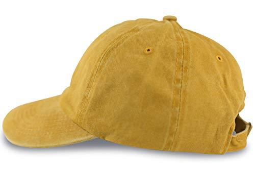 FashionCHIMP Baseballcap im Vintage Used-Look aus 100% Baumwolle, Unisex Jeans Denim Cap (Gelb) -