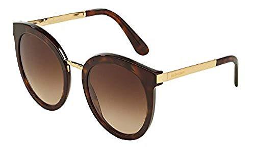 Dolce & Gabbana Unisex DG4268 Sonnenbrille, Schwarz (Black/Gold 502/13), One Size (Herstellergröße: 52)