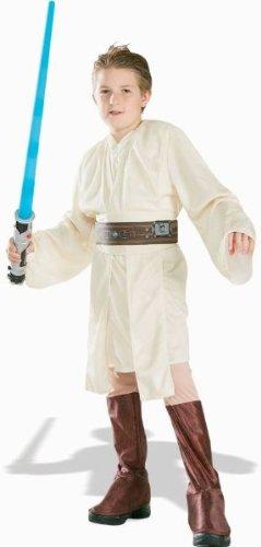 Kostüm Obi Deluxe Wan Kenobi - Star Wars Deluxe Obi-Wan Kenobi Kostüm Kinderkostüm Macht Lichtschwert Gr. S - L, Größe:M