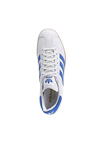 adidas Originals Gazelle S76228, Scarpe da Ginnastica Basse Uomo Bianco (Vinwht/Boblue/Gum4)
