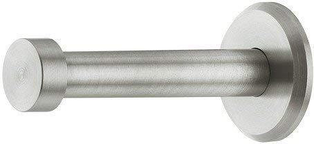 GedoTec® Garderoben-Haken Kleiderhaken Edelstahl - Modell UP-25 | Tiefe: 72 mm | Mantelhaken Edelstahl matt gebürstet | Wandgarderobe unsichtbar verschraubt | Haken inkl. Befestigungsmaterial | Markenqualität für Ihren Wohnbereich