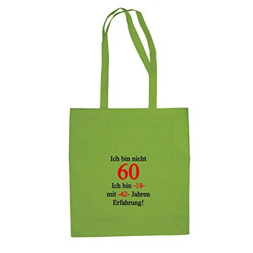 Ich bin nicht 60 - Stofftasche / Beutel, Farbe: (Kostüm Onkel Opa)