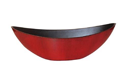 Schreiber Deko Dekoschale Kunststoff/Rot-Schwarz lackiert / 39x12x13cm