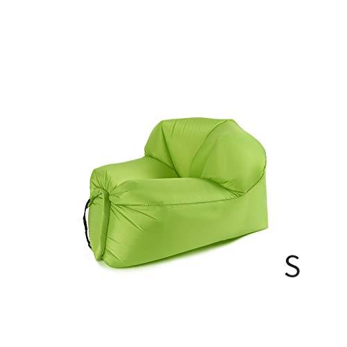 Style wei Outdoor Air Schlafsofa Mittagspause Strand tragbare Faule aufblasbare Luftbett Bett (Color : Green, Größe : S)