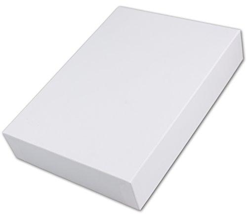 Hochwertige Aufbewahrungs- und Geschenkboxen | 1 Stück| DIN A4 | hochweiss bezogen | 302 x 213 x 70 mm