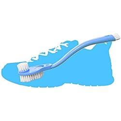 SwirlColor 2 piezas de plástico Calzado deportivo zapatillas de deporte de mango largo cepillo de limpieza de múltiples funciones del lado del doble de limpieza del depurador - color al azar