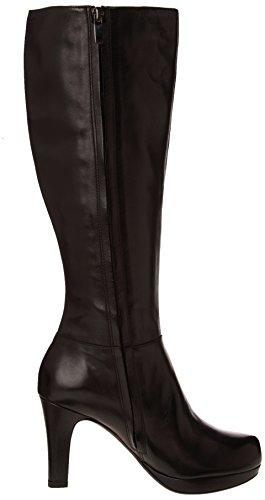 Clarks Kendra Candy Damen Langschaft Schlupfstiefel Schwarz (Black Leather)