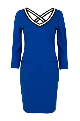 Promiss Damen Kleid Einfarbig D-Cross Apparel Dress D-Cross, Kobalt, Gr. S