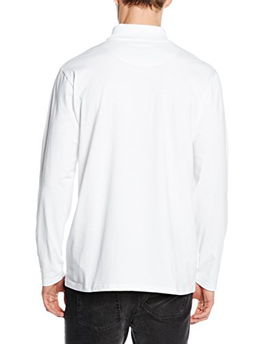 Henbury Roll Neck Long Sleeved Top, Pull Homme Blanc