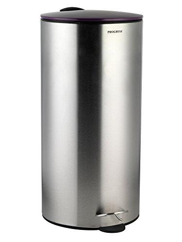 progressi-bw05303-30-litri-pattumiera-a-pedale-in-acciaio-inox-con-coperchio-di-chiusura-morbida-vio