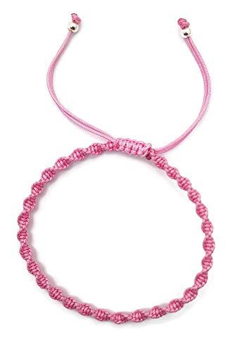 Imagen de mystic jewels  pulsera macrame giratorio  kabbalah de hilo de colores, amuleto, protección mal de ojo, buena suerte, good luck rosa  alternativa
