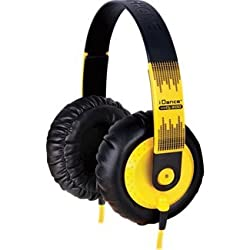 iDance SeDJ 600 DJ Over-Ear Headphone (Yellow)
