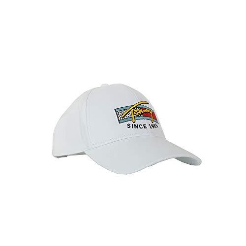 Tommy Hilfiger TJM Colour Logo Baseball Cap - Weiß - Einstellbar