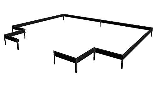 Stahlfundament für Gewächshaus Juliana Orangerie schwarz