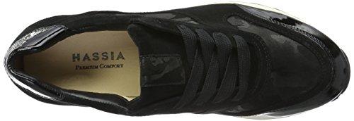 Hassia Barcelona, Weite H, Baskets Basses Femme Noir - Schwarz (0100 schwarz)